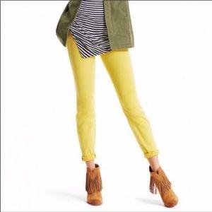 Cabi Citron Yellow Skinny Jeans 4 EUC